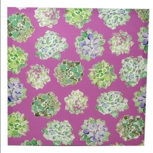 """Pink Succulent Canvas-NWT-16"""" by 16""""-GIFT ALERT!"""